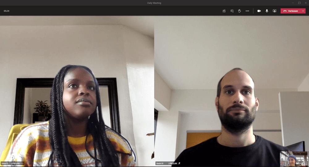 Videocall mit Microsoft Teams